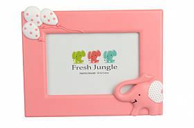 """Фоторамка дитяча """"Слоненя"""", рожева, Детская рамка для фотографий """"Слоненок"""""""