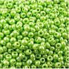 Бісер №58310, №10, Preciosa (Чехія), світло-зелений перламутровий, непрозорий