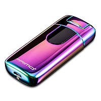 Электроимпульсная зажигалка PRIMO портативная электронная аккумуляторная USB зажигалка Хамелион