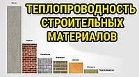 Теплопроводность материалов для строительства дома