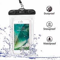Чохол водонепроникний для мобільних телефонів SUNROZ з люмінесцентним елементом Чорний