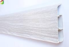 Плінтус Ідеал Система 294 Горіх Антик 80мм пластиковий для підлоги, IDEAL високий з м'якими краями