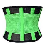 Пояс SUNROZ Xtreme Power Belt для похудения XL Черно-Зеленый