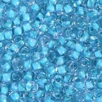 Бисер №38632, №10, Preciosa (Чехия), голубой прокрашенный,прозрачный