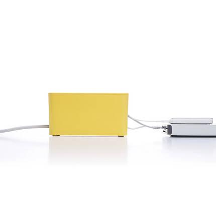 Органайзер для проводів вогнестійкий Cablebox Mini Bluelounge (yellow), фото 2