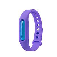 Антимоскитное средство SUNROZ Силиконовый антимоскитный браслет, Фиолетовый