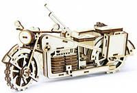 Механический деревянный 3D пазл SUNROZ Мотоцикл BMW R75 125 эл., фото 1