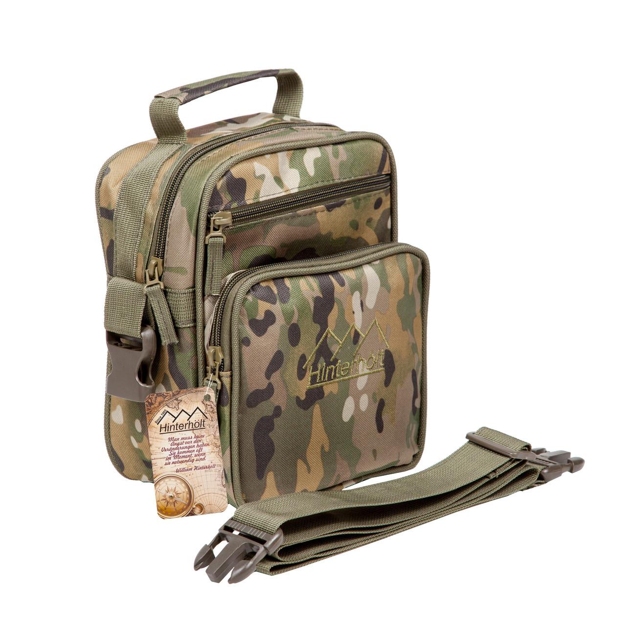 Тактическая военная сумка Hinterhölt Jab (Хинтерхёльт Джеб) плечевая на ремне Хаки Мультикам