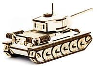 Механический деревянный 3D пазл SUNROZ Танк T-34 127 эл., фото 1