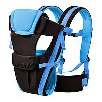 Сумка-кенгуру SUNROZ BP-14 Baby Carrier рюкзак для переноски ребенка Черно-Синий (0977), фото 1