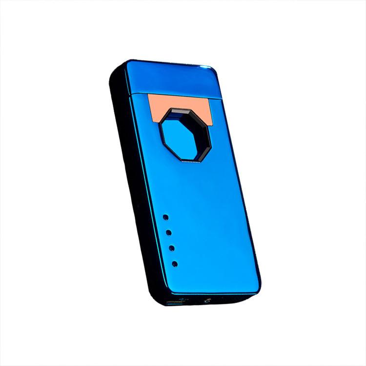 Запальничка SUNROZ ZH-153 портативна електронна акумуляторна USB запальничка Синій