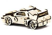 Механический деревянный 3D пазл SUNROZ Автомобиль Ferrari 53 эл., фото 1
