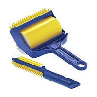 Силиконовый липкий валик SUNROZ Sticky Buddy для чистки одежды и уборки дома Сине-Желтый (1324), фото 1