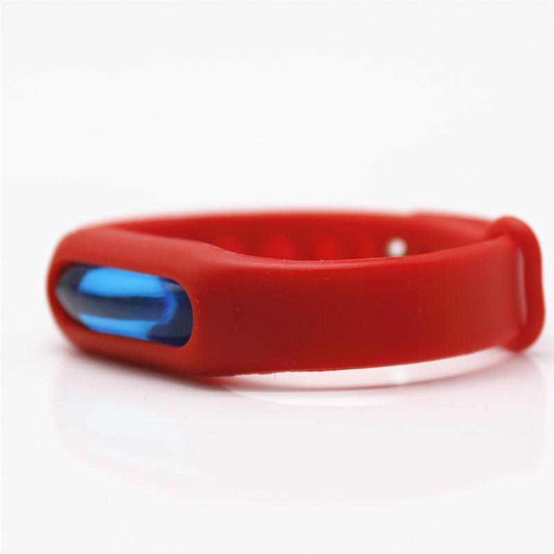Антимоскитное средство SUNROZ Силиконовый антимоскитный браслет, Красный