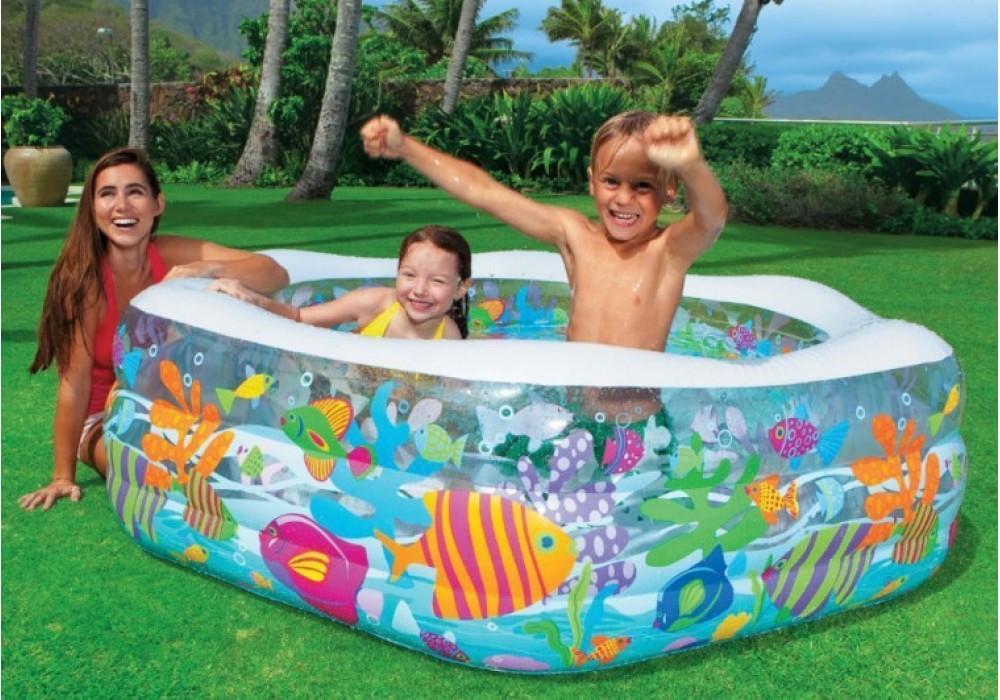 Детский надувной бассейн Intex 56493 198 см х 178см х 61 см