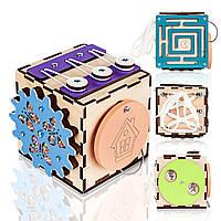 Бизикуб BrainUp Smart Busy Cube настольная развивающая игра кубик из 6 деталей 10*10 см (6007_1), фото 1