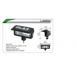 Фары дополнительные  DLAA 8004D-BL/H3-12V-55W/168*71mm/крышка (LA 8004D-BL)