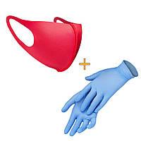 Маска-питта XoKo с фиксакцией Розовая размер XS +Перчатки в подарок
