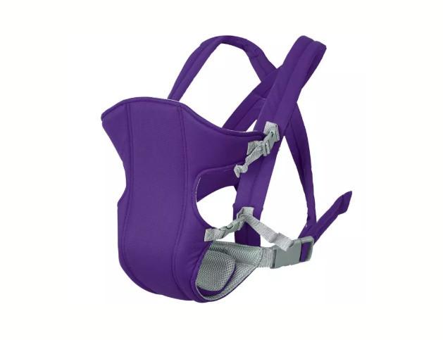 Сумка-кенгуру SUNROZ YEBD-2 Baby Carrier рюкзак для переноски ребенка Фиолетовый