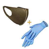 Маска-питта XoKo с фиксакцией Хаки размер XS +Перчатки в подарок
