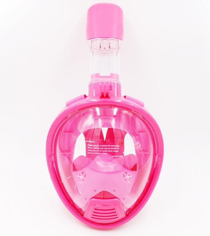 Дитяча маска для сноркелінгу TheNice K-1 EasyBreath-III на все обличчя для дайвінгу XS Рожевий
