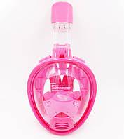 Дитяча маска для сноркелінгу TheNice K-1 EasyBreath-III на все обличчя для дайвінгу XS Рожевий, фото 1