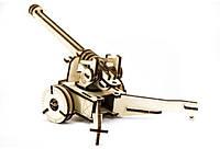 Механический деревянный 3D пазл SUNROZ Пушка 49 эл., фото 1