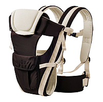 Сумка-кенгуру SUNROZ BP-14 Baby Carrier рюкзак для переноски ребенка Черно-Белый (0975)