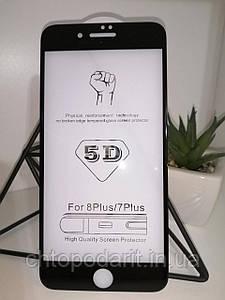 Защитное стекло 5D на все модели айфон, IPHONE 7/8, 7+/8+, XS, XS MAX  – скругленные края Код 16-3262