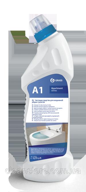 """Миючий засіб для щоденного прибирання туалетів """"Apartament series А1"""", флакон 750 мл"""