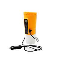 Автомобильная смарт-термокружка SUNROZ Smart Mug с подогревом и контролем температуры 380 мл Желтый