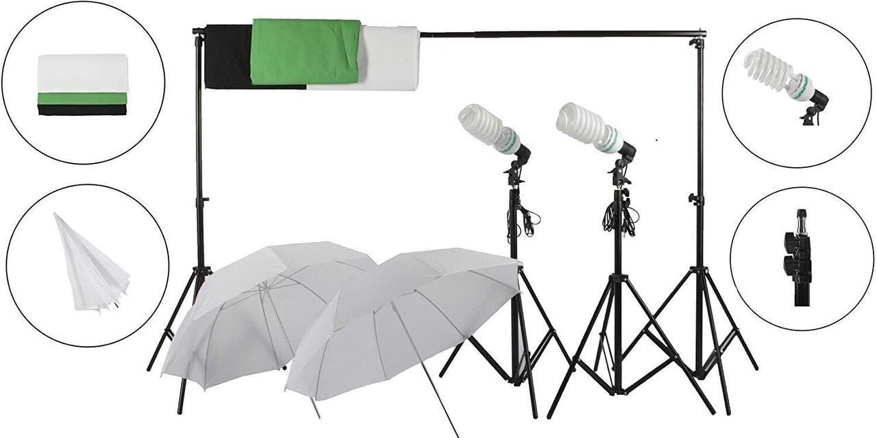 Набор постоянного света + 3 фона FST PHOTO FF-150 S-MAX