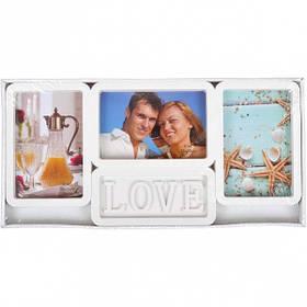 """Фоторамка - колаж """"Кохання"""", біла, Рамка для фотографий """"Love"""" 1611"""