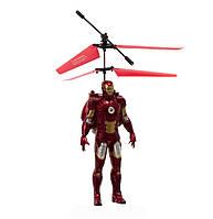 Интерактивная игрушка SUNROZ Flying Avengers 2 летающий робот супергерой Железный человек Красный