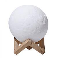 Настольный светильник ночник Луна 3D Moon Lamp