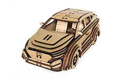Механический деревянный 3D пазл РЕЗАНОК Автомобиль Хундай 120 элементов