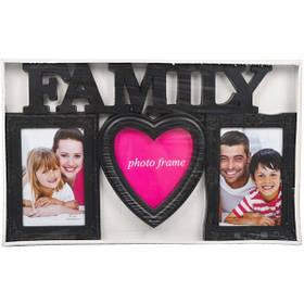 """Фоторамка - колаж """"Сімейна"""", чорна, Рамка для фотографий """"Family"""""""
