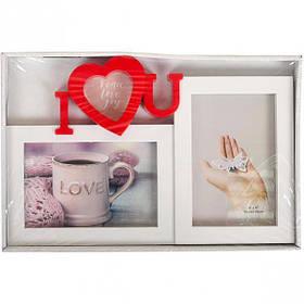 """Фоторамка """"Кохання"""", Рамка для фотографий """"I LOVE"""" 8302"""