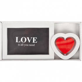 """Фоторамка """"Кохання"""" біла, Рамка для фотографий """"Love"""" K16"""
