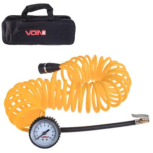 """Шланг воздушный  """"VOIN"""" VP-104 спиральный  7,5м с манометром/дефлятор/сумка (VP-104)"""