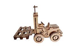 Механический деревянный 3D пазл РЕЗАНОК Погрузчик 108 элементов