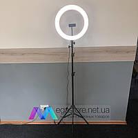 Селфи кольцевая лампа 36 см Dimmable со штативом 2 метра с держателем для телефона LED профессиональная