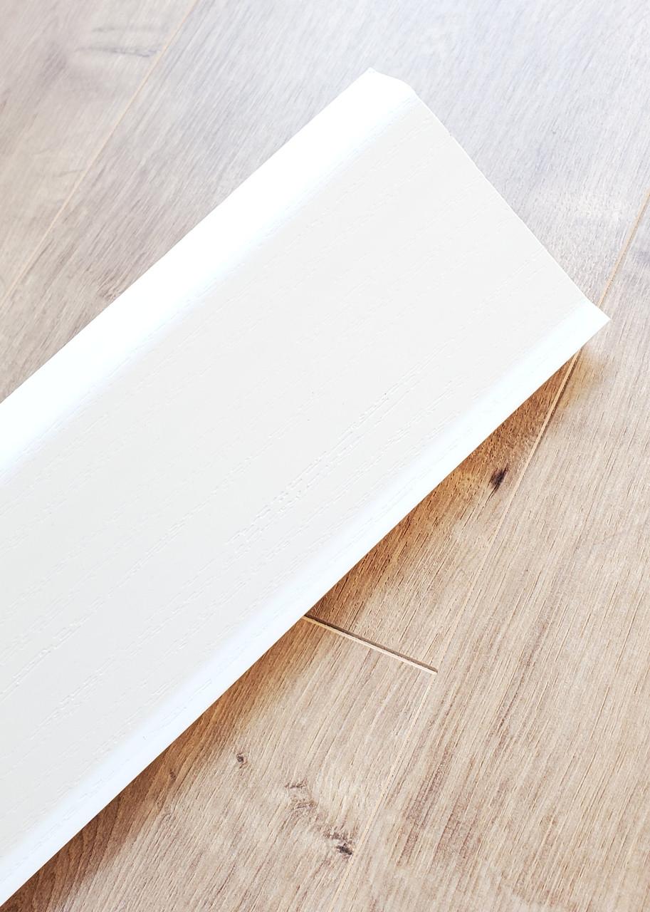 Плинтус пластиковый ИДЕАЛ Система 001-M Белый Матовый