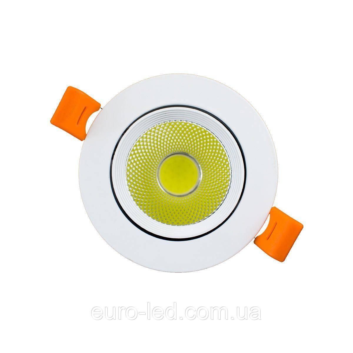 Светильник светодиодный OEM DL-7W-R-COB 7Вт круглый 6000K белый