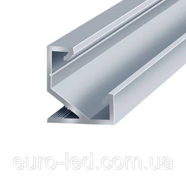 Комплект. Профиль алюминиевый угловой ПУ17 17х17 неанодированный (палка 2м) + рассеиватель, м