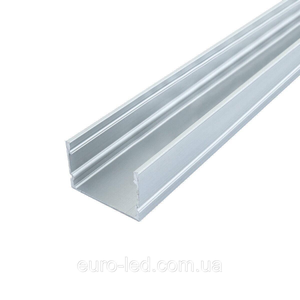 Комплект. Профиль алюминиевый BIOM ЛП20 20х30, анодированный (палка 2м) + рассеиватель