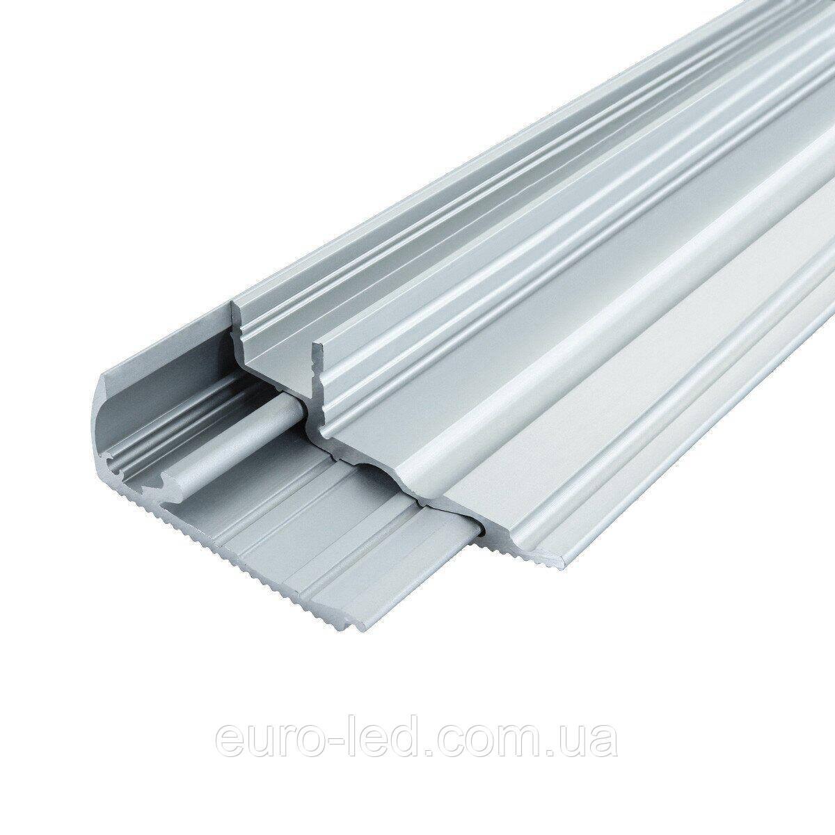 Профиль алюминиевый для ступенек PS-22 (PS-22/1+PS-22/2) анодированый, (палка 2м), м