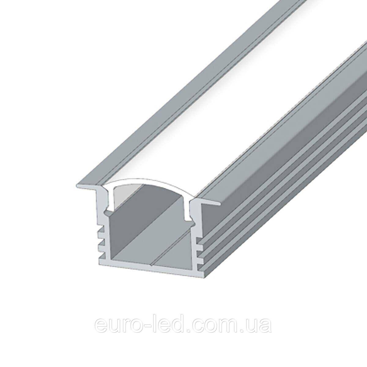 Комплект. Профиль алюминиевый анодированный LED LPV-12 + рассеиватель