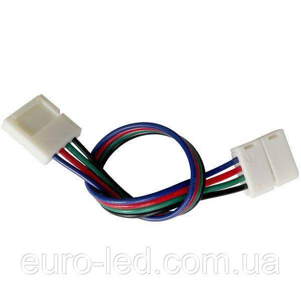 Коннектор для світлодіодних стрічок OEM №9 10mm RGB 2joints wire (провід-2зажима)