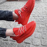 Мужские стильные, красные кроссовки Baas весна/лето Yeezy Boost 350